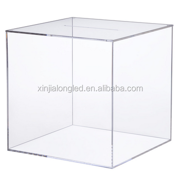 Cube Clear Acrylic Storage Bo And Bins 6 Sided Cubes