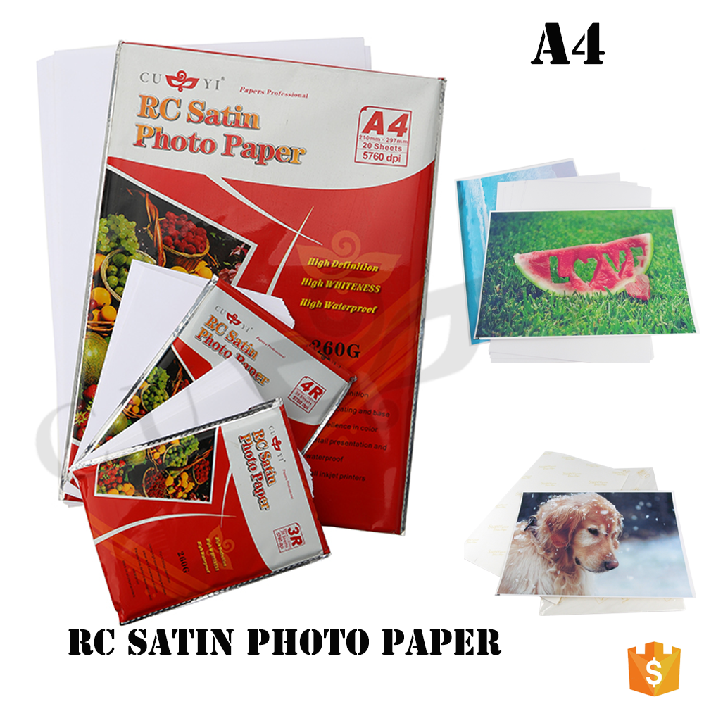 CUYI RC ROUGH SATIN a4 glossy inkjet fotopapier 260GSM A4/3R/4R/5R