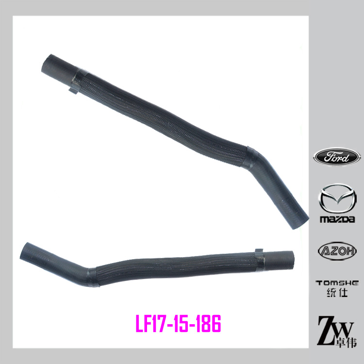 Rubber Radiator Upper Hose LF17-15-186,Radiator Lower Pipe for car Mazda 6 GG year 2002-2004