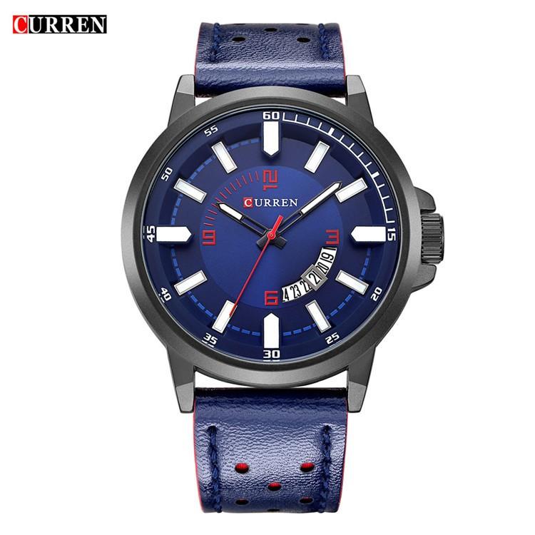 1ae311ba9db7 Curren relojes de cuarzo para hombres marca de moda de lujo analógico de  fecha reloj hombre