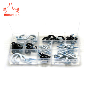 Black white Plastic Coated Self tapping Cup hook and L shape hooks kit