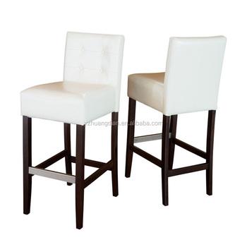 Simple Bar Chair Design White Wooden Stool Yc7046