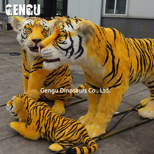 Waterproof 3D Animatronic Tiger Life Size Animals Model