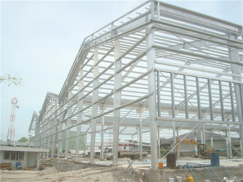 Easy Erection Lightweight Prefabricated Steel Frame Hall For ...
