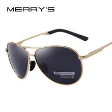 78692fb49 Escudo MERRY S UV400 Polarizada Óculos De Sol Dos Homens Da Forma dos  homens de Condução Óculos