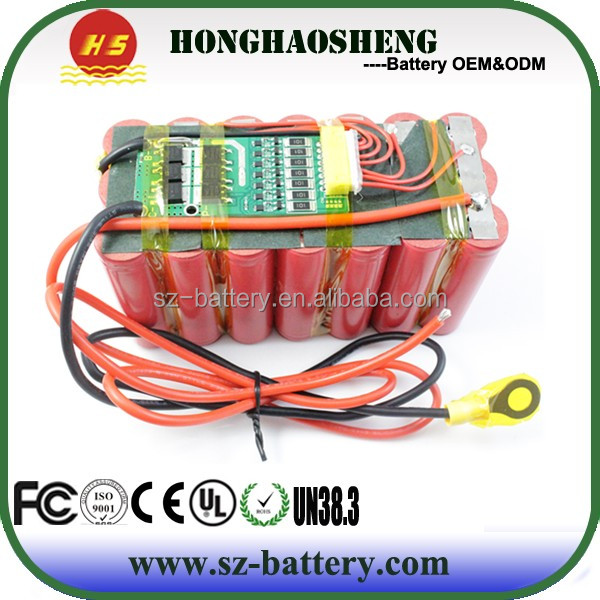 Best price a grade rechargeable 25.2v li- ion 18650 battery pack 6.75ah