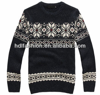 Christmas Sweater Jacquard Knitting Pattern Designs For