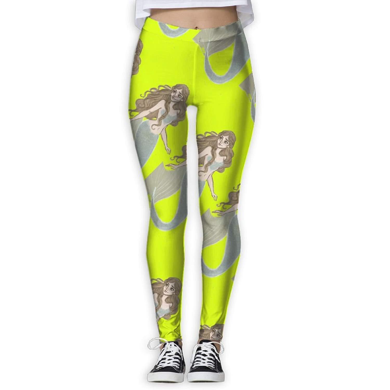 f04038652d Get Quotations · Virgo Mermaid Soft Compression Pants/Yoga Pants Panel  Leggings Women Girl Drawstring