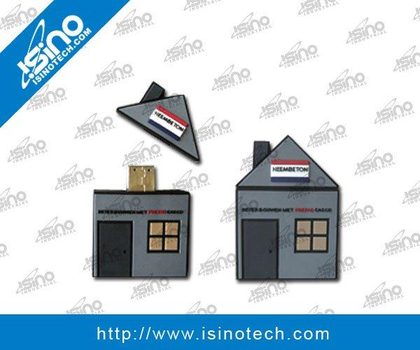 Haus Form USB grelle Scheibe für Immobilien Industrie