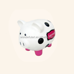 handmade animal figurine coin bank,ceramic piggy money box for wholesale