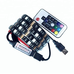 Free sample!TV LED Backlight 100CM USB RGB 5050 Strip Light Remote Kit 5V usb 60Leds/M
