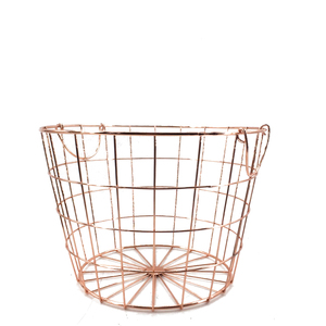 Wholesale trade decorative metal wire Modern design home Fruits and Vegetables gold Hanging Storage Basket