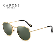 Caponi Women Luxury Retro Metal 일 Glasses Vintage Oculos Feminino UV400 편광 선글라스