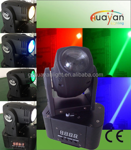 Professional Stage Light Single Head 10W fullcolor QUAD CREE Mini Beam LED Moving Head Disco Light