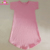 New 2018 Short Sleeve O Neck Baby Pink Dress Girls One Piece Cotton Kids Top Dress