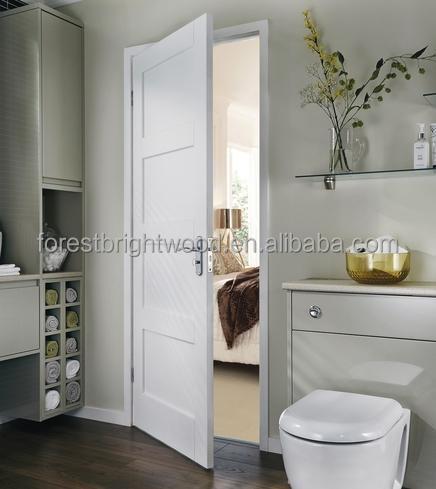 warna putih sederhana desain kamar mandi pengocok 4 panel