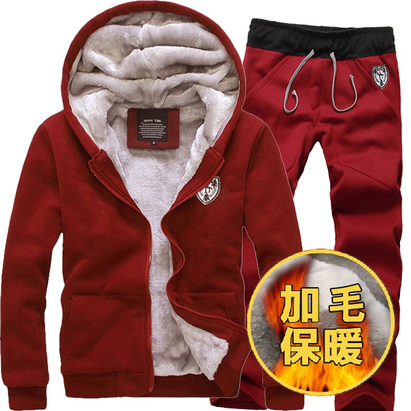 China Supplier Men's Design Fashion Winter Wool Fabric Pant Coat Suits
