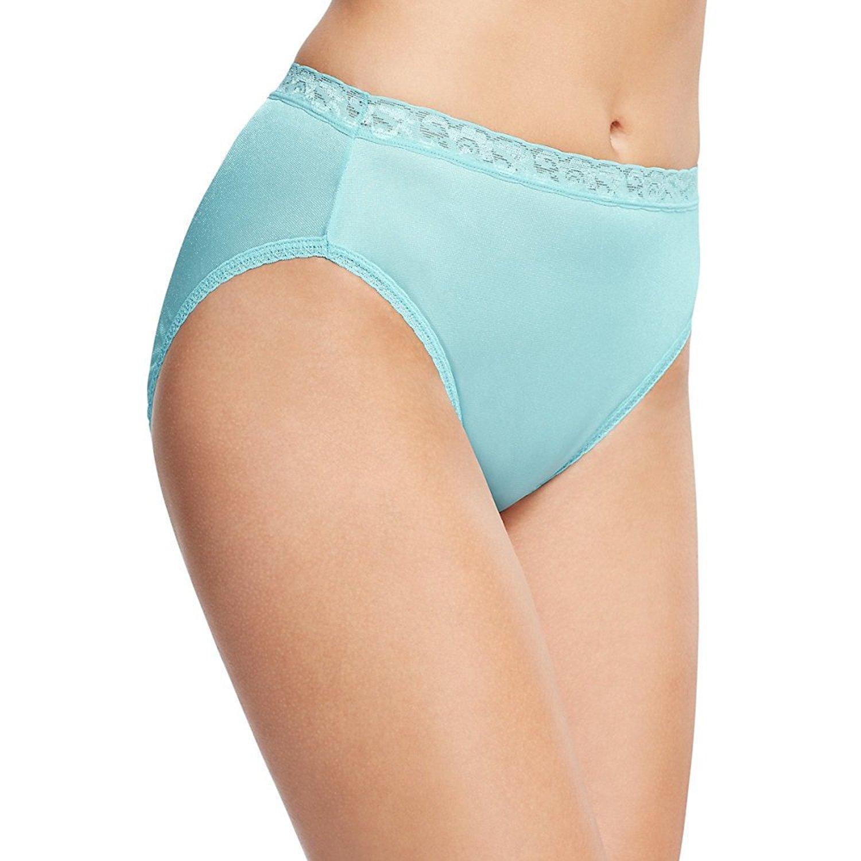 5c7f18e0f Get Quotations · Hanes Ladies Nylon Hi-Cut Panties 6-Pack (Assorted Colors)