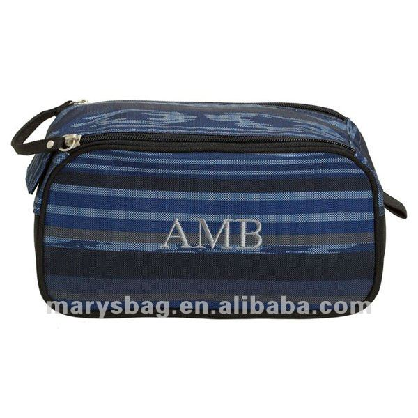Getaway Blue Surf Stripe Dopp Kit