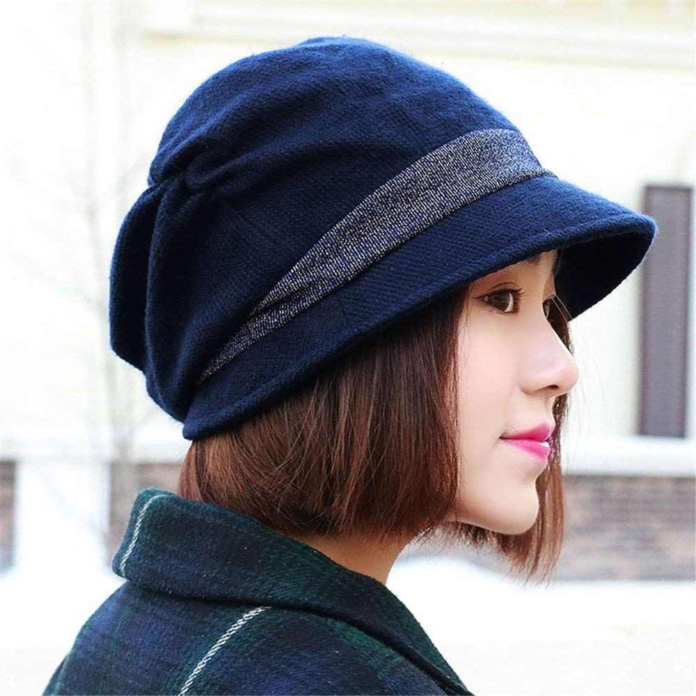 86be6373596 Get Quotations · Autumn and winter ladies fashion lady face Hat Beret women  female bonnet leisure all-match