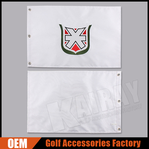 Custom 14'' x 20'' Nylon Embroidery Golf Flags/Golf Hole Flags