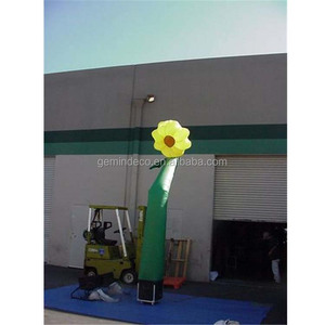 Garden decoration remain inflated plant air dancer tube man inflatable flower