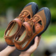 New Design Man Genuine Leather Brown Outdoor Hiking Casual Sandal