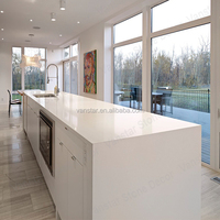 Fast Delivery Solid Surface Quartz Galaxy White Kitchen Countertops