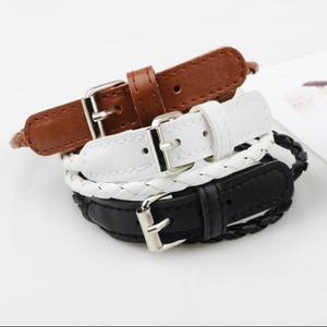 Soft Genuine Leather fashion personality simple leather bracelet bracelet hand ring hand strap