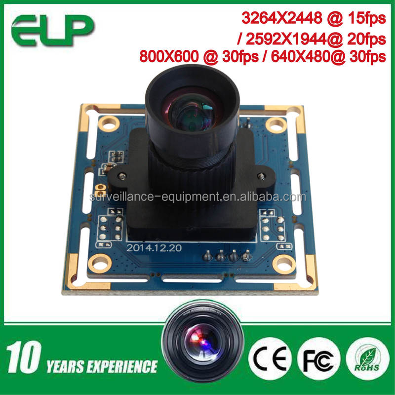 HD MJPEG 30 fps 3200 x 2400 8mp usb camera module Support linux android windows ELP-USB8MP02G-L75