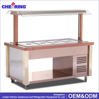 Wooden food serving set food cooling bar salad bar for buffet, restaurant , hotel