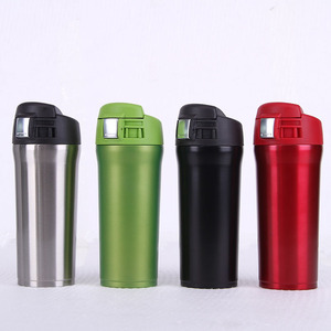 2018 Wholesale Water Bottle Drinking Vacuum Cup Insulation Flask with Bounce Cover in Car