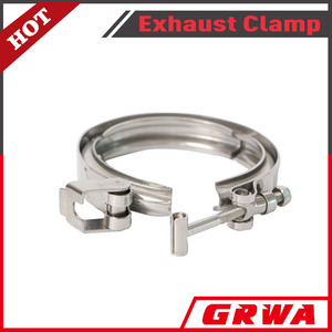 Stainless Steel Quick Release V-Band Clamp with no flange