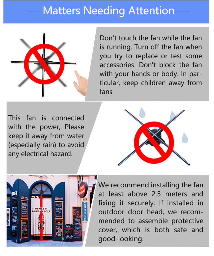2019 Nieuwste 100CM 3D Hologram Display Outdoor Reclame Display Led Fan