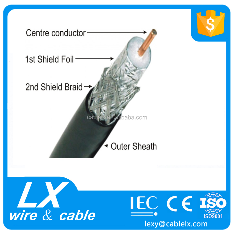 rg6 coaxial cable for CCTV 75 ohm