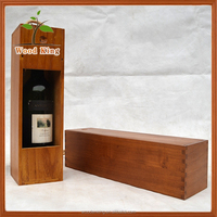 Wholesale Screen Printing Stamp Supply Custom-Made Smoked Pull Single Cheap Red Wine Packaging Wooden Wine Box