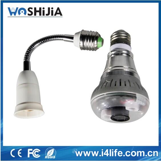 720p Mini Hidden Camera Light Bulb P2p Remote Control Wifi Lamp ...