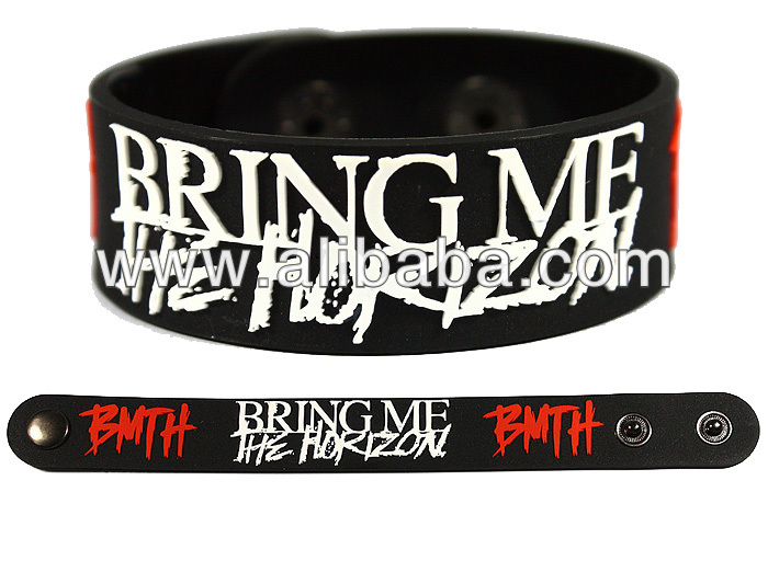 Bring Me The Horizon Bmth Rock Band Rubber Bracelet Wristband Glows In Dark Product On Alibaba