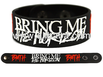 Bring Me The Horizon Bmth Rock Band Rubber Bracelet Wristband Glows In Dark