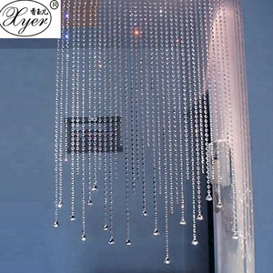 Shining Glass Crafts Bead Curtain Crystal Beads Window Curtain K9 Crystal Rhinestones for Show Window Display