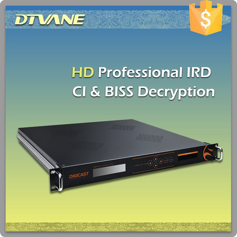 DMB-9020C DTV receiver RF to AV singal digital satellite receiver with CI+BISS decryption DVB-S2/S IRD