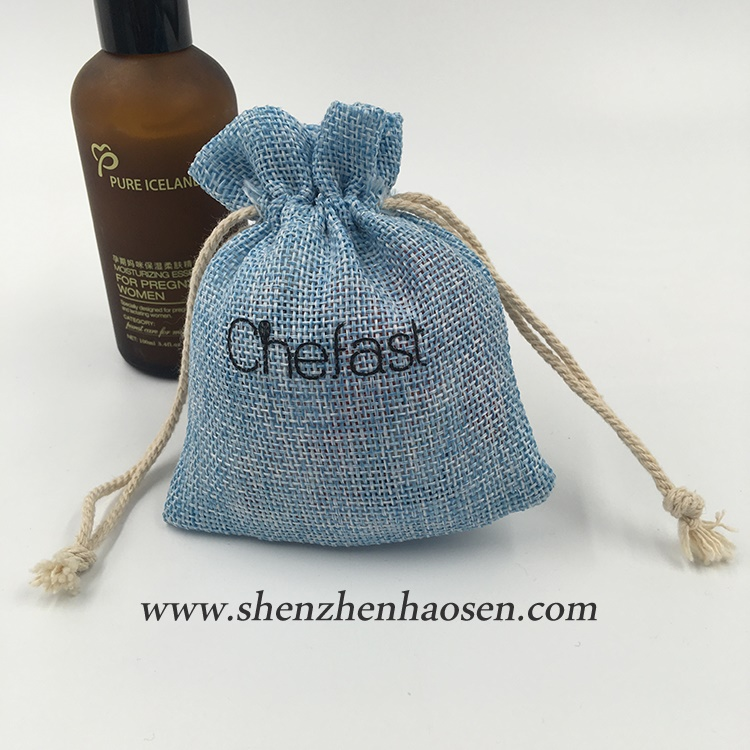 Wholesale Natural Custom Small Drawstring Jute Stuff Bag Dice Bag