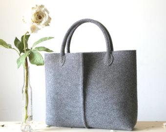 Wool Felt Bag Handmade Fabric Bags