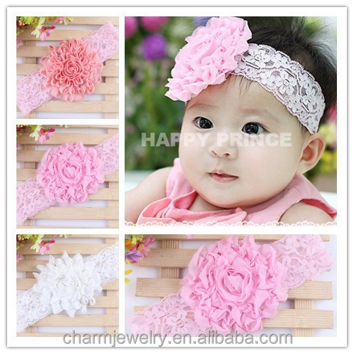 Handmade lace flower baby headband for girls +wide elastic <strong>hair</strong> bands+children jewelry <strong>hair</strong> <strong>accessories</strong> for kids BTS019