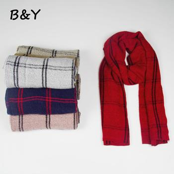 BOYAN 2018 Fashion Large Block Plaid Long Scarf