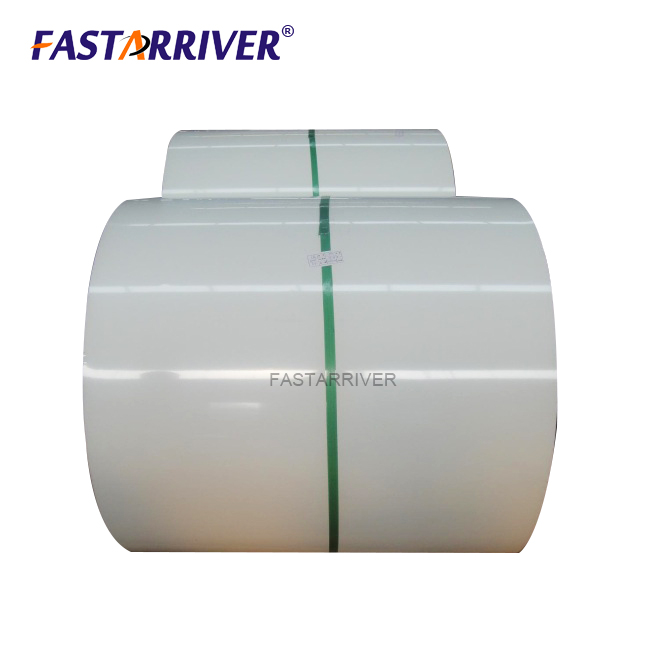 white color coated aluminium gutter coil 3003 h16