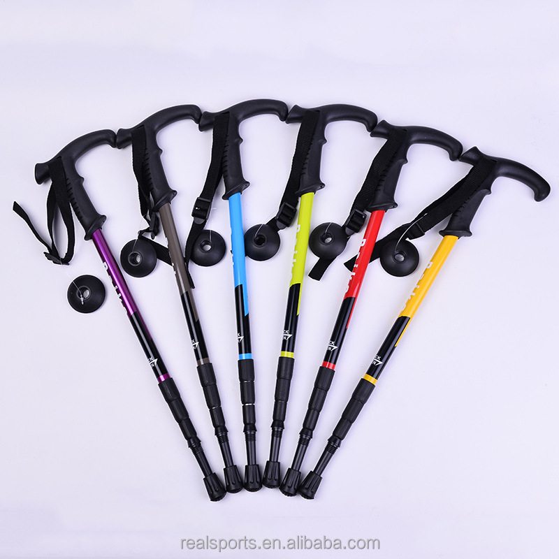 New Hot Sale Folding Dilipat Travel Hiking Tongkat Trekking Pole