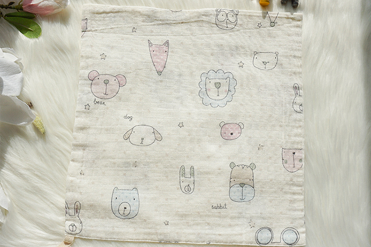 Customized printed cartoon comfortable 100% cotton prices cute handkerchief baby for bedding