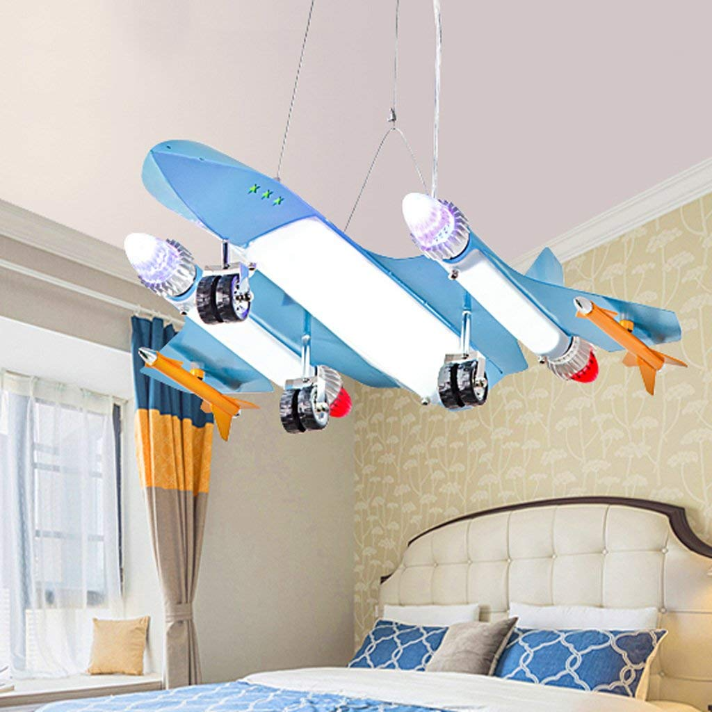 Eye protection airplane lights Chandelier High-end atmosphere children's room chandelier creative cartoon art eye boy bedroom aircraft lighting A+