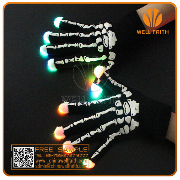 Party Concert Decoration New Promo Gifts for Kids and Adaults Special LED Flashing Gloves